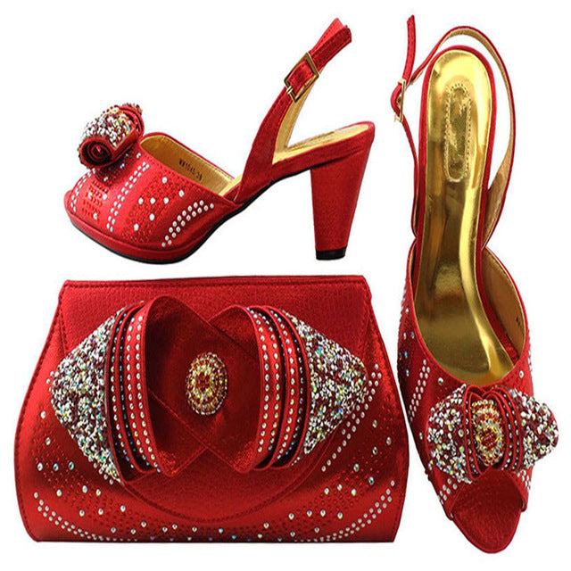 a928d30a89c Hot Artist 2018 Newest Italian Shoes With Matching Bag Shining In Wedding  Shoes With Matching Bags Women Shoes And Bag MM1045