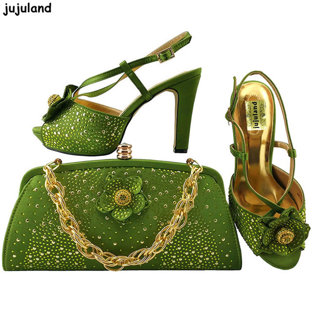 ... Coral Color Italy Shoes and Bag Set Decorated with Appliques Ladies  Matching Shoes and Bag Set ... 7de9774d3710