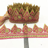 10yards New Lace Trim for home furnishing DIY guipure lace trim Garment Accessories wedding lace trimmings with stones