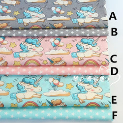 160CMx50CM unicorn cotton fabric infant baby bedding patchwork fabric tecido quilting bedzee crafts material sewing tissue