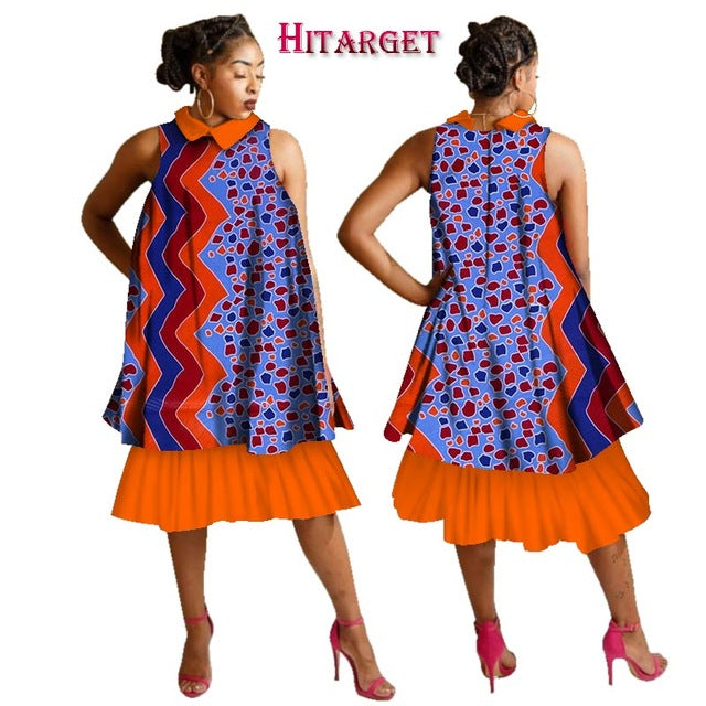e89ab1f4101 ... Summer Dresses Plus Size Women Fashion Dress Dashiki Women Sleeveless  Ashiki Women Dress Cotton African Print ...