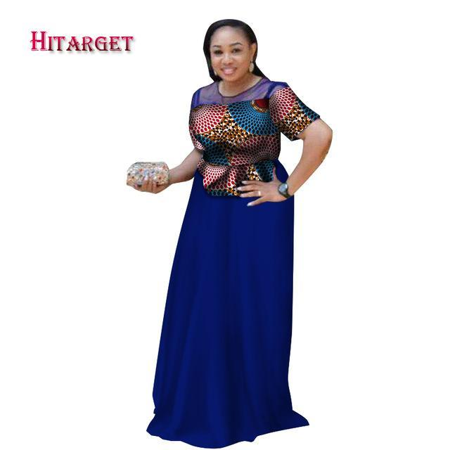 2017 african dresses for women african bazin riche dress Dashiki women dress cotton african print clothing plus size WY2700
