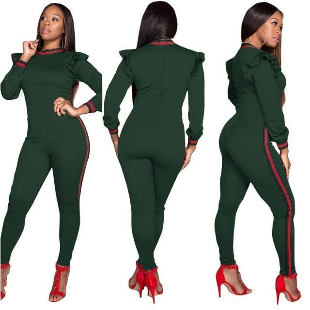 1c2a24fbba1 ... 2018 Casual Women One Piece Outfits Jumpsuits Long Sleeve Bodycon Front Zipper  Hooded Long Pants Sexy ...