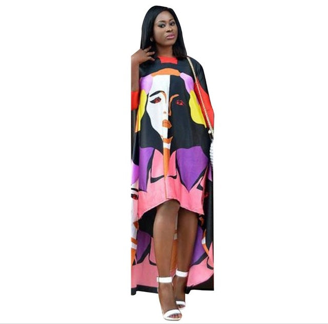 eef2d26c9df ... Dashiki Dress Autumn Long Sleeve Vintage Traditional African Dresses  for Women Print Bodycon Sexy Slit Dress