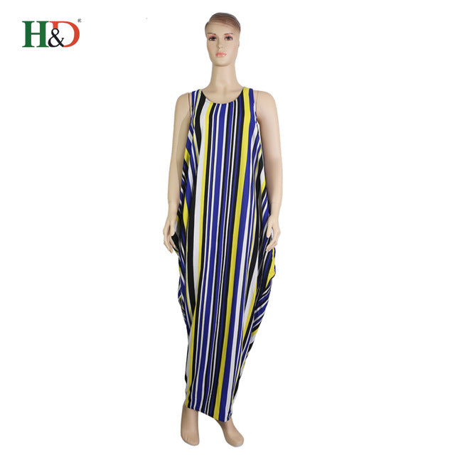 238b8a76734 ... H D 2018 spring summer stripe colorful maxi dress african print dresses  casual south africa clothes women