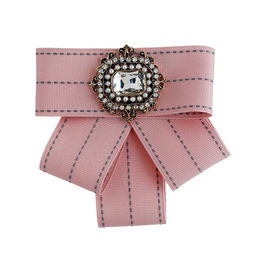 XY Fancy Woman Elegant Brooch Bowknot Shimmer Rhinestone Corsage Skirt Decoration