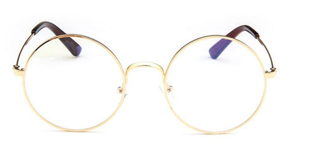9503a698bbc50 ... lens Retro eyeglasses for women men Glasses transparent Metal. Hover to  zoom