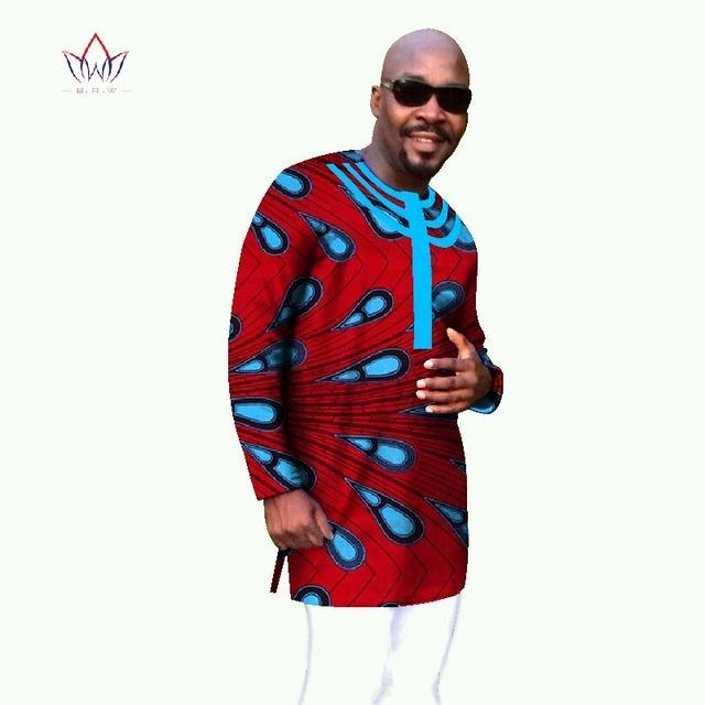 2017 Hot Sale Private Custom Long Sleeve African Dashiki Mens T Shirt Men Printed Africa Wax Tops Plus Size BRW WYN47