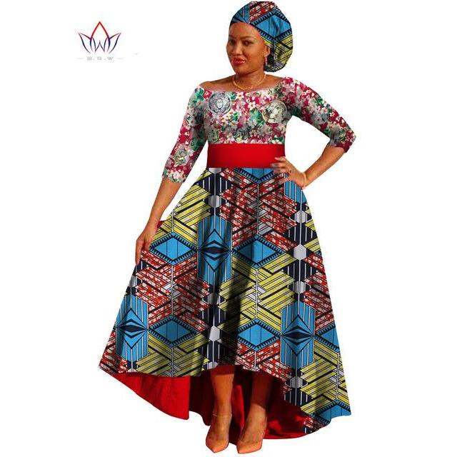 4d557f66452 Hover to zoom · 2018 African Dresses for Women Dashiki Lace+Cotton Print  fabric African Clothing Bazin Plus Size
