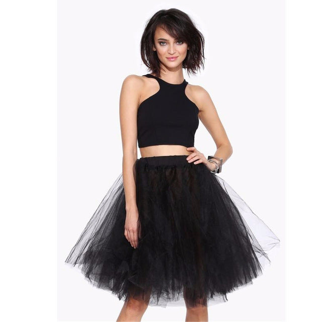 57231e8238a3 New Women's Skirts Fluffy Tulle Skirts Pleated Skirts Women's ...