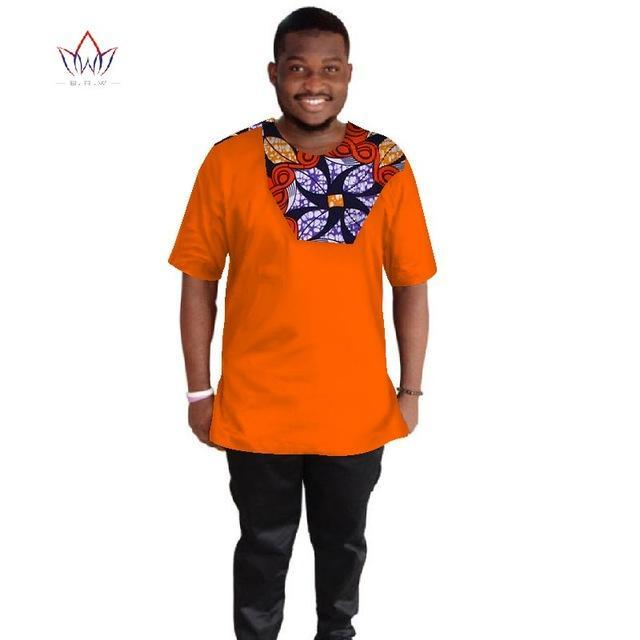 2017 African Mens Clothing Dashiki for Men t Shirts Men Short Sleeve Mens Shirts Brand Clothing Slim Fit Plus Size 6XL WYN259