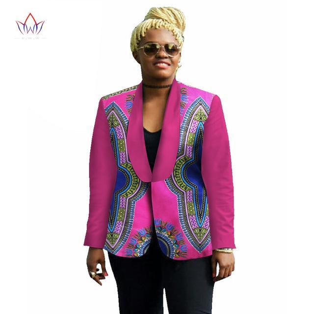 2017 New Women Autumn Designs Long Sleeve Blazer and Jackets Women Dashiki Tops Plus Size Blazer Slim Fit 6XL BRW WY536
