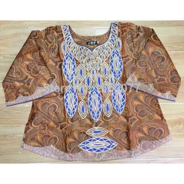 2017 african bazin riche shadda damask guinea brocade with Cording embroidery Women clothes short top with wrapper and heatied