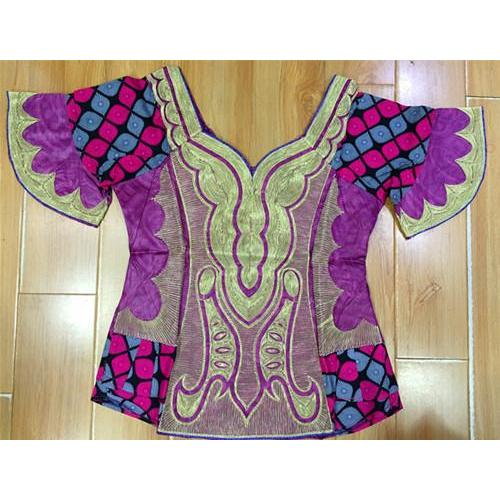 2017 new design african BAZIN MIX WAX clothes/dress for LADY STYLE cordding embroidery  have zipper 3pieces /set-Q9804