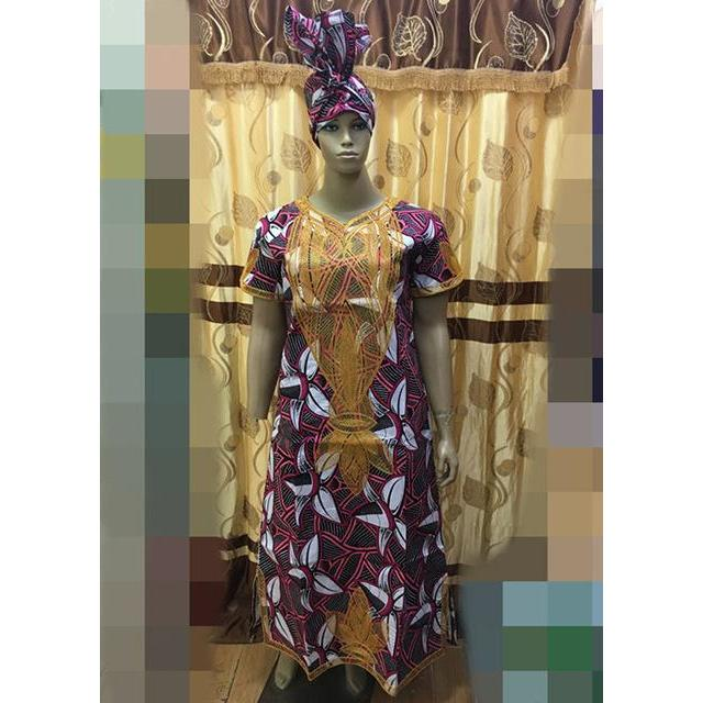 2017 SUMMER DRESSES AFRICAN KITENGE/SUPER WAX DRESS with cording embroidery dress super wax dresses/grown with heatied