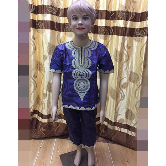 2017African new fashion boy children's clothing design style Africa Dashiki style Bazin materials 2 colors