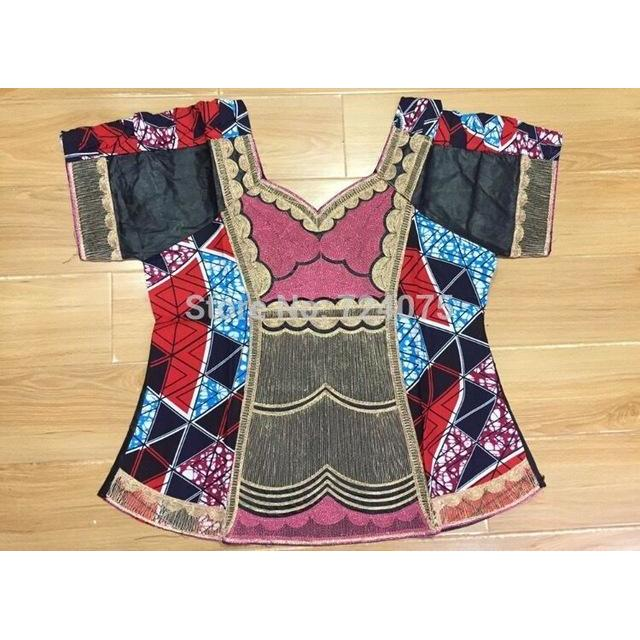 2017 Direct Manufacturer,africa bazin mix wax dress for  LADY STYLE normal embroidery beside have zipper 3pieces /set-.A9044#