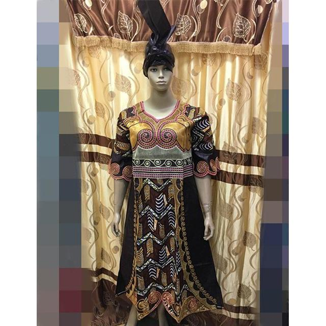 2016 african clothing bazin MIX WAX STYLE shadda damask guinea brocade with cordding embroidery dress(long dress)E9205#