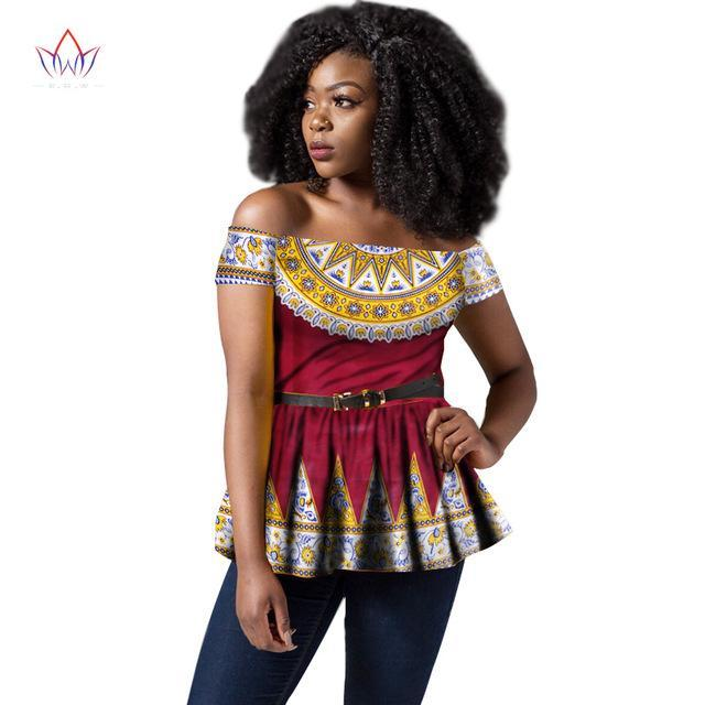 124084840b4 Hover to zoom · 2018 Africa Style Women Modern Fashions Womens Tops Dashiki  African Print Tops Shirt Plus Size M