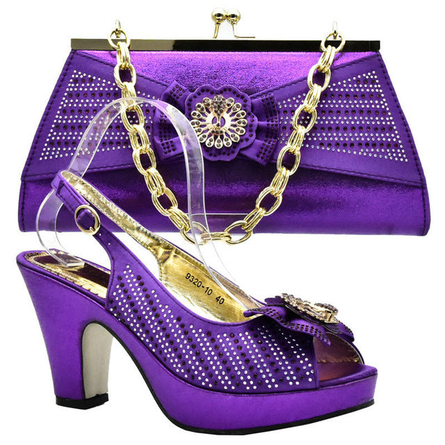 6a5d2999cf9 ... Capputine 2018 Summer African High Heels Shoes And Bag Set Italian Shoes  and Bag To Match