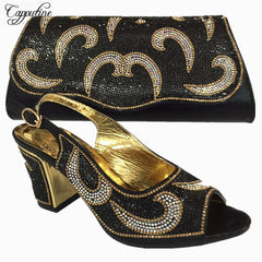 Capputine 2018 Latest Italian Shoes With Matching Bags Women Nigeria  Wedding Shoes And Bag To Match ... 0c55202de874