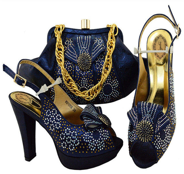 721f10160bce7 Capputine 2018 Nigeria Style Wedding Shoes And Bag Afircan Ladies ...