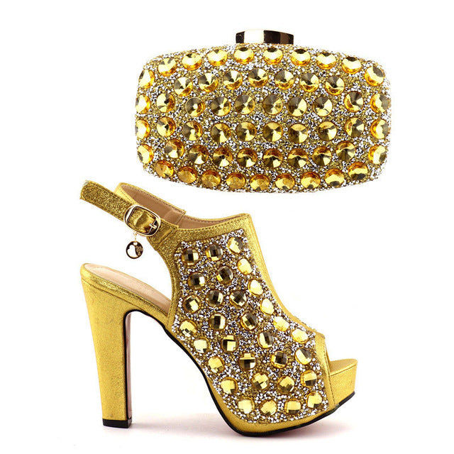 b1c7ee8df14e ... Capputin High Quality Fashion Women Party Shoes With Matching Bags  Italian High Heels Shoes And Bags ...