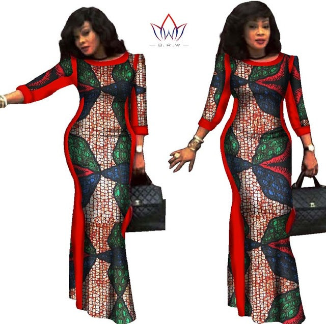Party dresses 2018 New style African Dresses for Women Bazin Riche Plus  Size African Wax Print 4560379aa90b