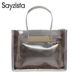 Summer handbags 2018 New Fashion Women Clear Transparent Shoulder Bag Jelly Candy Summer Beach Handbag Woman Messenger Bags A-23