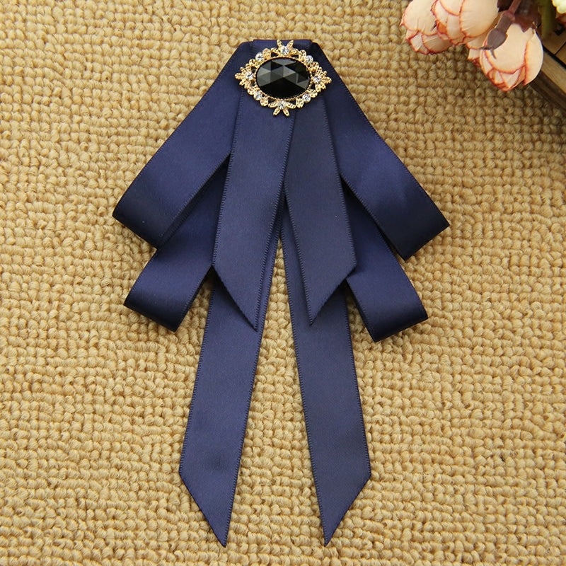 33eb2364cea ... Bow Brooch Shirt Female British Bowtie Pins and Brooches. Hover to zoom