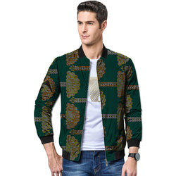 African men festival colour baseball jacket africa print stand collar dashiki stand collar coat man's african clothes