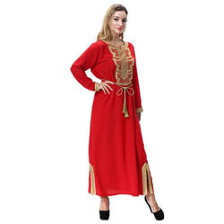 2018 Hot Middle East Arabia Arabian dress Muslim long sleeve dress burst
