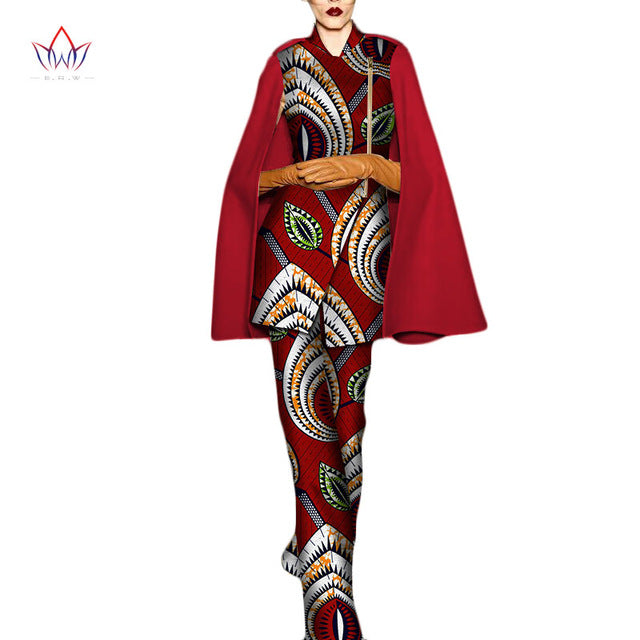 72bf8f624af Dashiki 2018 New Fashion African Women Sets Cloak sleeve Elegant Set for  Lady Plus Size Pants. Hover to zoom
