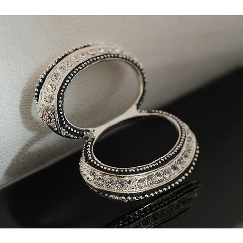 Women Custom Shawl Ring Clip Scarves Fastener Crystal Silk Scarf Buckle Brooch Wedding Fashion Jewelry Female Classic Gift