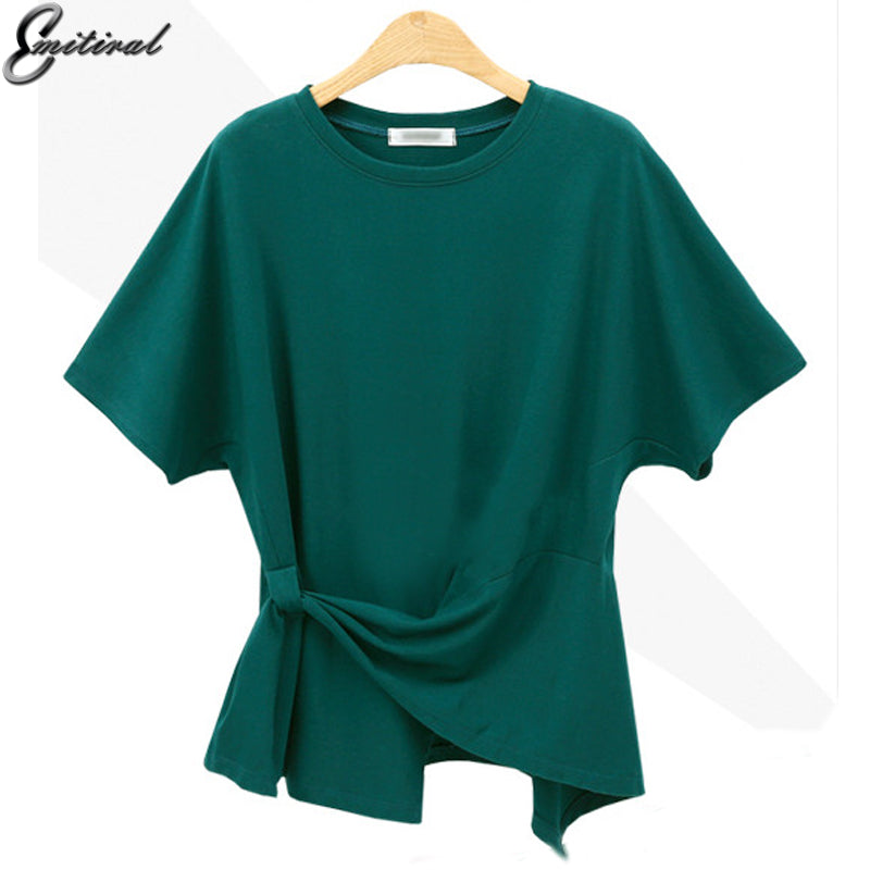 fecf7b96958 ... Women Basic T-Shirt Short Sleeves O Neck Ladies Tops Tunic. Hover to  zoom