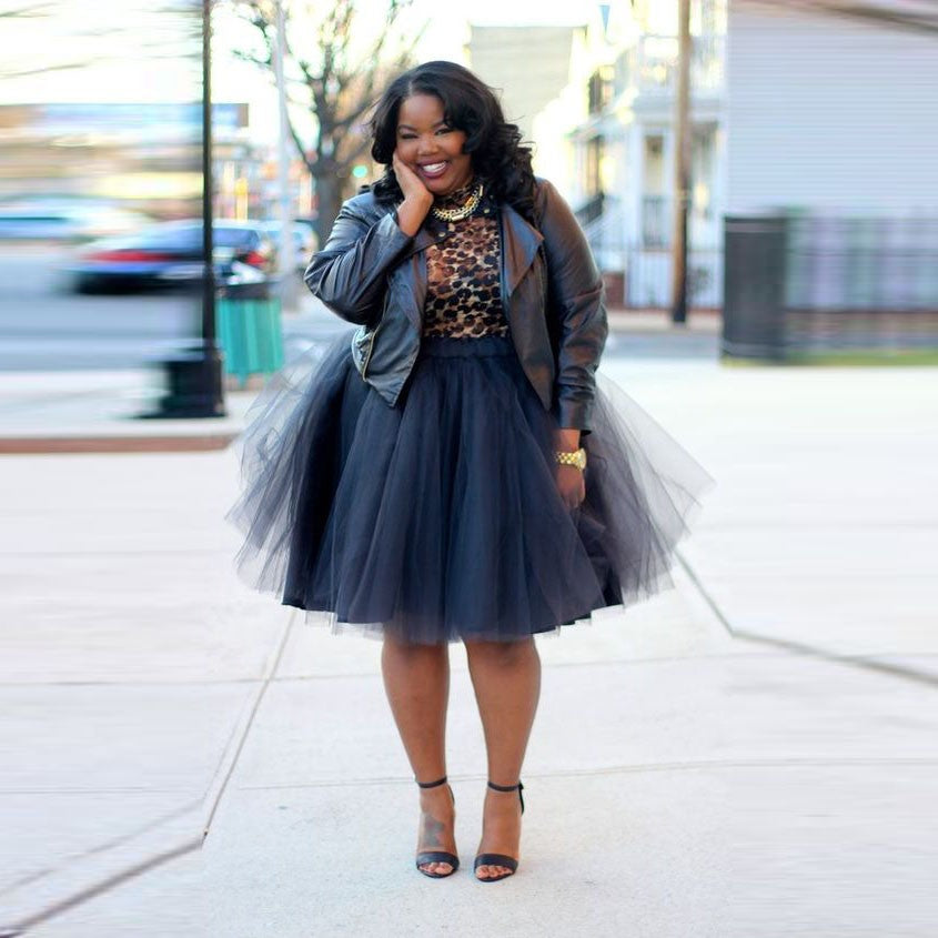 104aea5cc Plus Size Tulle Skirts Elastic Puffy Tutu Skirts For Women Skirt Chic Short  Skirt Personalized Jupe. Hover to zoom