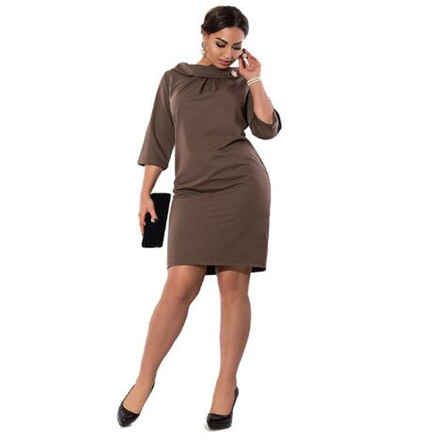 d3a0066bdfb0 ... Big Size Elegance Dress Work Office Dress Straight Dress. Hover to zoom