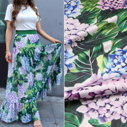 big sunflower printed soft silk satin fabric tissue,polyester silk fabric for women dress imitate silk fabric tissue 145cm width