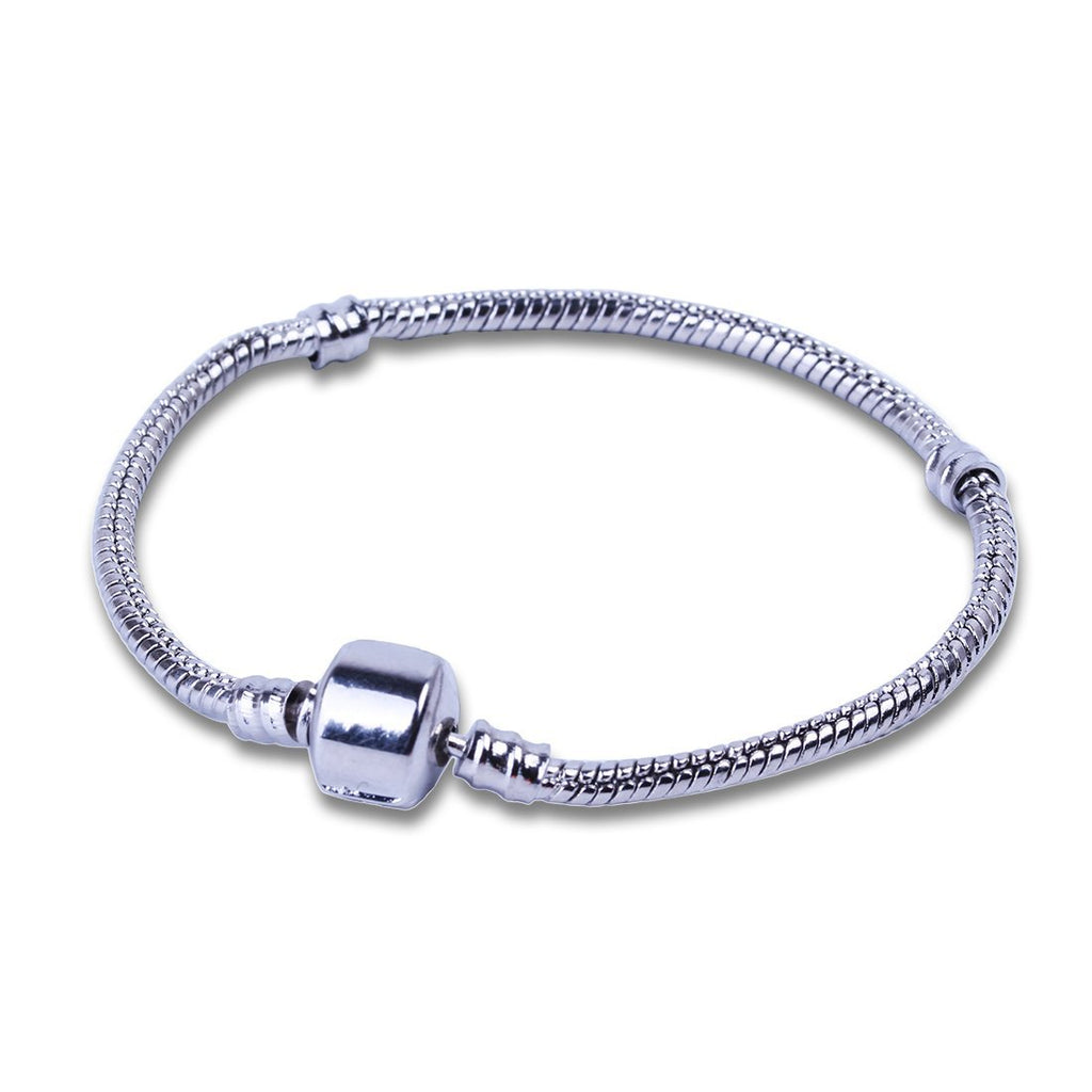 17-23cm Silver Charms Bracelets Snake Chain DIY Love Heart Beads Bracelet Fit For European Charm Bracelets Bijoux Women Jewelry