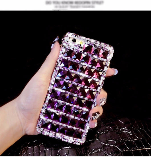 Bling Purple Diamond Phone Case For iPhone - Owame