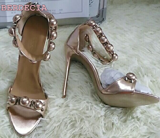 33020cfb3253 ... real photo Multi color studded sandals open toe snakeskin leather shoes  rivet high heel sandals woman ...