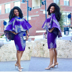 HANDMADE CUSTOMISED DASHIKI ANKARA AFRICAN PRINT FOR WOMEN - Owame