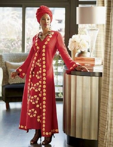 3d092be35be4 Tadita Jacket Dress Ashro Red Ethnic African American Pride Red Gold Size  6, 8