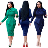 Elegant one-piece Women's Office Lady Formal Business Work Party Sheath Tunic Pencil Dress