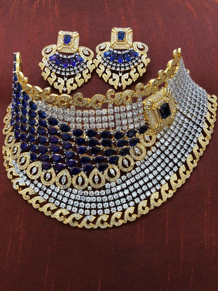 Gorgeous Indian Bridal Jewelry Set, Blue