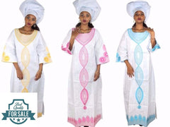 Bazin Riche Embroidery African Cloths Women Caftan Dashiki Traditional Dress