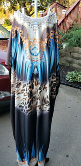 Womens African Printed long dress