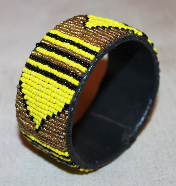 AFRICAN MAASAI MASAI BEADED BRACELET WIDE BANGLE  - KENYA JEWELRY #06
