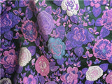 BY THE YARD - HIGH QUALITY FLORAL BROCADE JACQUARD BRIDAL DRESS FABRIC