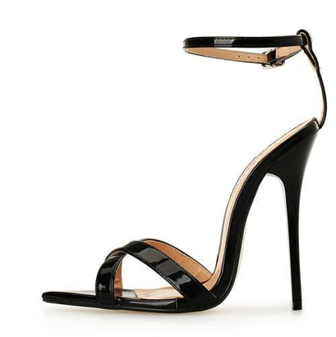 Sexy Women's Roman Sandals Open Toe Ankle Strap Hollow High Heel Stilettos Shoes